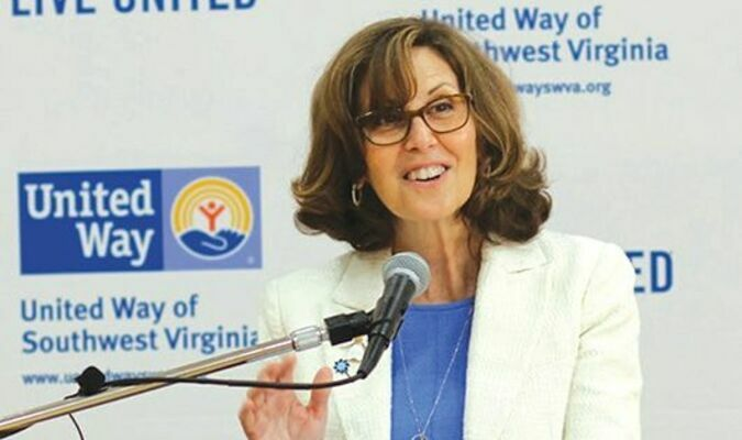 Virginia's First Lady Pamela Northam talks Wednesday in Norton about the new initiative. UNITED WAY PHOTO
