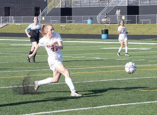 Alexandra Rogers scored the first three goals of the game against Ridgeview. PHOTO BY KELLEY PEARSON