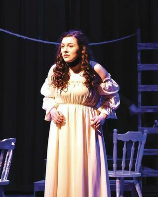 Hadassah White performs as Miranda, utilizing her vocal talents to sing some of her lines and to provide background vocals in different parts of the show.