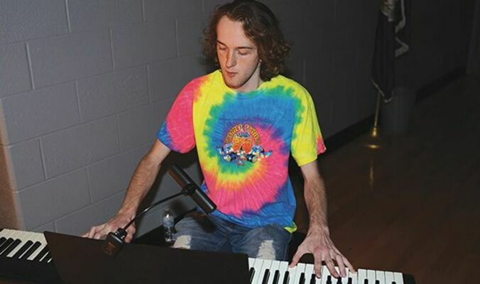 Caleb Adams plays an original score that he composed on the keyboard. His music helps to set the stage for each scene and weaves the fabric of the story together beautifully.