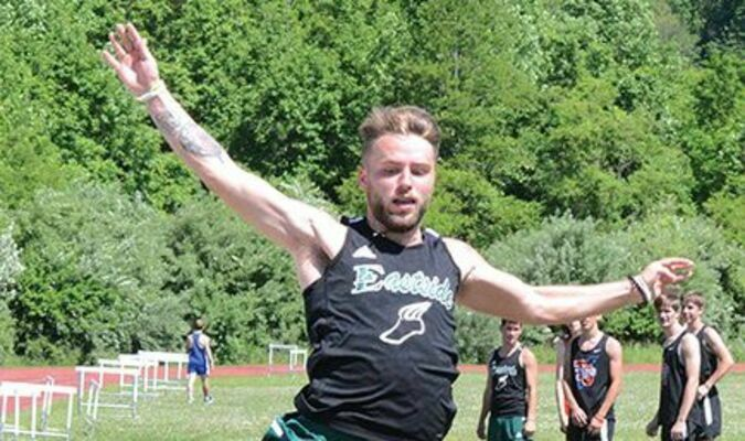 Eastside's Bryson Shepard takes off Saturday at the Cumberland District track meet. PHOTO BY KELLEY PEARSON