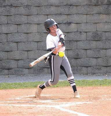 Maggie Odle had several timely hits for the Lady Spartans over the course of the Region 1D tournament. PHOTO BY KELLEY PEARSON