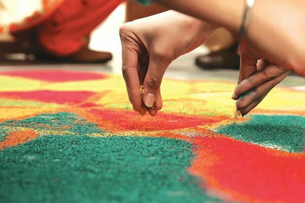 Participants will engage with East Indian culture through hands-on workshops such as Rangoli Sand Art.