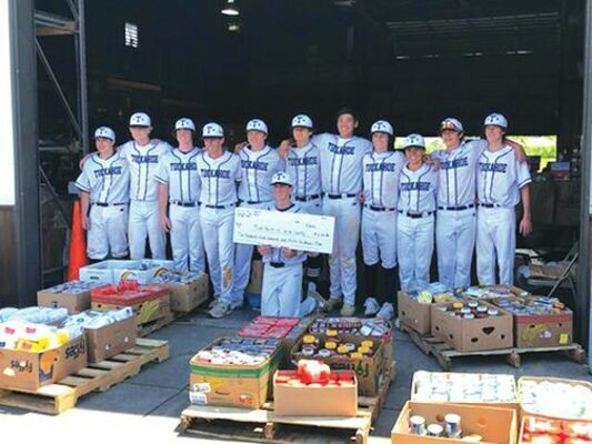 The Tuckahoe team raised $2,336 total and used the money to purchase non perishable food items, which they personally  delivered to the Food Bank of Wise County.