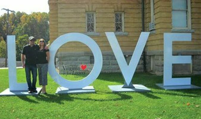 LOVEwork visits Wise County for Fall Fling Visitors encouraged to take pictures and share on social media with #LOVEVA. The LOVEwork will be on display at the Wise County courthouse until October 13.