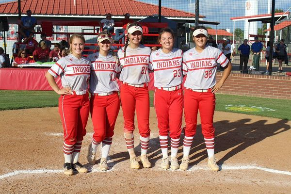 Comanche seniors Carly Gordon, Lily Brown, Brooklyn Gill, Kinley Rendon and Teagan Pineda (Photo by Todd Brooks/The Comanche Times)