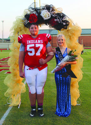 Reece Middick was named the 2020 Comanche High School Football Homecoming King and Sadie Allie was named the 2020 Comanche High school Football Homecoming Queen in a ceremony before last Friday night's football game with Perkins-Tryon.