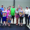 Comanche Masonic Lodge #41 presented the Warrior Journey martial arts class with a check for $800 to assist with the purchase of much-needed equipment. The class is run by Keith and Donna Hampton. The class is designed to teach self-defence and self-control. The classes are held every Friday night a 7 p.m. at the Patterson Avenue Baptist Church gym. Pictured (left to right): first row - Keith Hampton (instructor), Billy Hunt and Eli Greer; middle row - Donna Hampton, Cera Hayne and Krissy Torres; back row - Donald Hill (Lodge Secretary), Ross Corell, Johnathon Blanton, Jamon Kelly (Lodge Jr. Warden) Harris Powers (Lodge Chaplain) and Bill Greer (Lodge Worshipful Master). The Lodge will also be working with the group to host a spaghetti dinner fundriaser to be held Sept 26 at the Asbury Complex starting at 6 p.m. Tickets are available at the door. The Lodge will be matching up to $5,000 on the fundraiser.