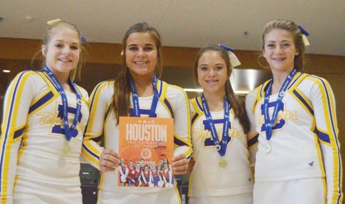 DJH All-American Cheerleaders: Brooklyn Rutherford, Kiley Yarbrough, Sidney Relyea, and Carrington Hollimon