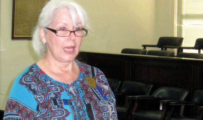 Circuit Clerk Sarah Merchant describes the Arkansas Century Farm Program.