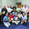 These awards were presented to county judges or their staff members during the 48th annual AAC conference, held August 24-26, 2016, in Hot Springs. Pictured are (L-R) front row: White County Judge Michael Lincoln, Sevier County Judge Greg Ray, Arkansas County Judge Thomas Best, Drew County Judge Robert Akin, Lincoln County Judge-elect Harry Densmore, AAC Risk Management Services Loss Control Specialist Barry Burkett, (L-R) back row: Saline County Judge Jeff Arey, Sebastian County Judge David Hudson, Garland County Judge Rick Davis, Stone County Judge Stacey Avey, Clay County Judge Gary Howell, Conway County Judge Jimmy Hart, Columbia County Judge Larry Atkinson, Chicot County Judge Mack Ball and Dixie Moix, executive administrative assistant for Perry County Judge Baylor House.