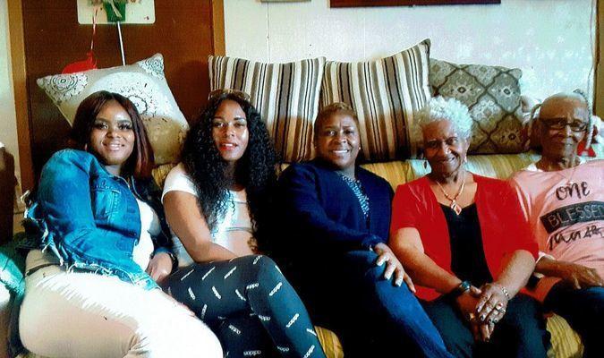 Jacory- great great grand, Tashona- great grand, Twanna-grandaughter, Ora-daughter, and Cora Joyner-mother