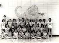 Year 1983-85 Laura Lumsden and Suzanne Schallhorn Trussell are in the back row