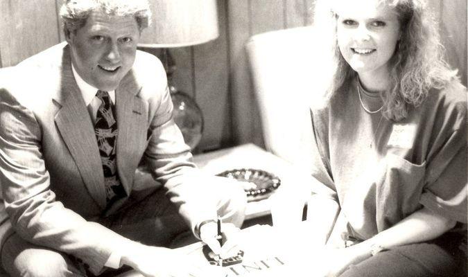 Bill Clinton and Heather Dollar Wright