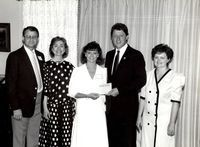 Jenifer Jenkins, Mr. and Mrs. Don Jenkins, and President Clinton