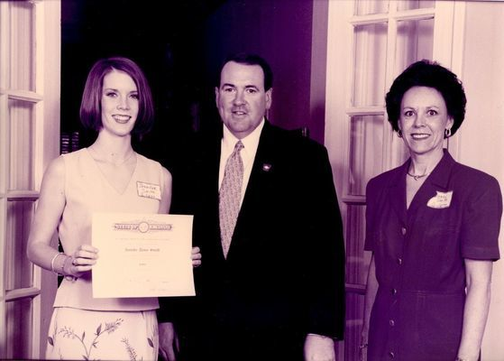 Jennifer Smith, Mike Huckabee, and Wendy Smith
