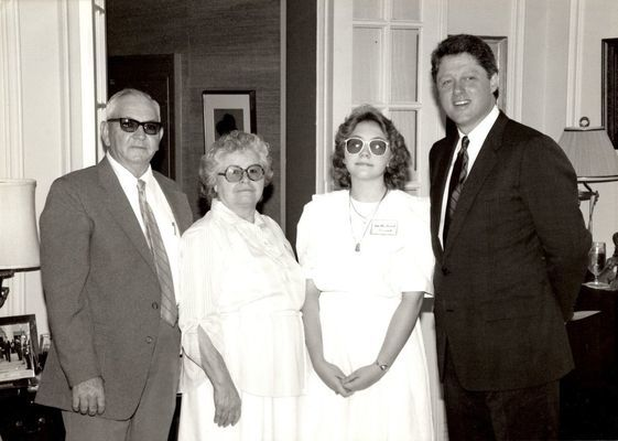 The Bennetts and Bill Clinton