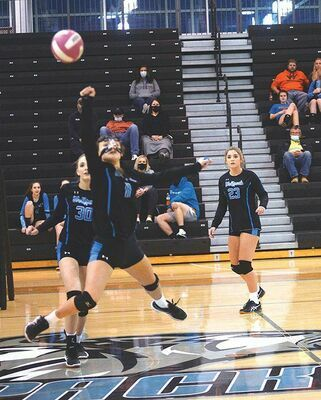 Kassidy Rasnick laid it all on the line with this running save Monday night. KELLEY PEARSON PHOTO