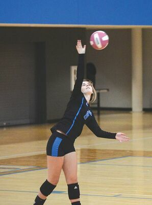 Ridgeview's Haley Mullins was serving up trouble for the Lady Bears. KELLEY PEARSON PHOTO
