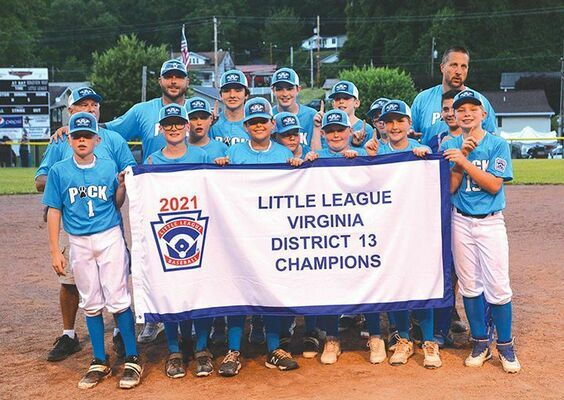 The Ridgeview 11-12 all-stars defeated Coeburn to finish the tournament undefeated. They will move on as the District 13 representative. PHOTO BY KELLEY PEARSON
