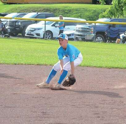 Jordan Castle knocked down a solid grounder. PHOTO BY KELLEY PEARSON