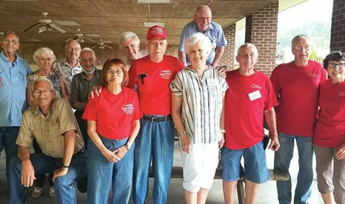 Members in the picture but not necessarily in order are: Kerry and Pun Yon Phipps, Charlie Fleming, Kenny Mullins, Buddy and Scharlene Greene, Dee Roberts, Bill Rose, Diana Smith, Dennis Reedy, Victor Shortt, Wayne Whitt and guests Carrol and Ruth Perrigan Turner.
