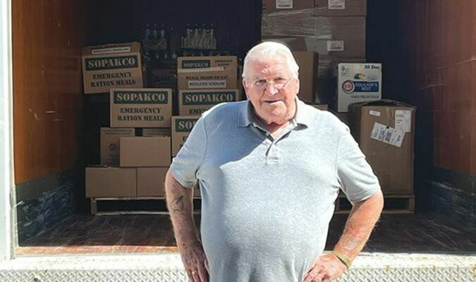 Bernard Fleming, with The Dickenson County Food Bank, recently delivered six pallets of food to the community center in Hurley for the flood victims. The six pallets included peanut butter, applesauce, tomato soup, paper towels, toilet paper, emergency boxes of food, cereal, water, crackers and other miscellaneous items. If anyone is interested in donating to the food bank, they can contact Faye Ramey at 276/926-1661. The food bank is in operation every Tuesday from 8 a.m. to noon. We would like to thank all of the volunteers at the Food Bank who ensure that residents of Dickenson County don't go hungry.  SUBMITTED PHOTO