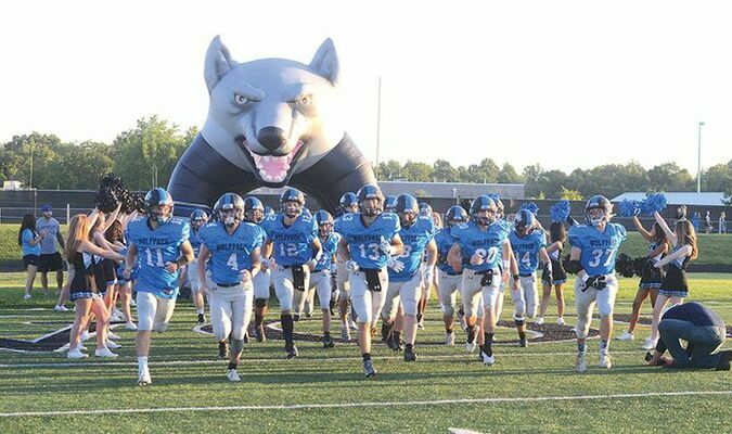 The Wolfpack takes the field on The Ridge for the first time this year. PHOTO BY KELLEY PEARSON