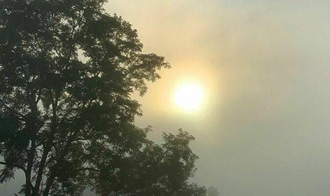 Spring and fall are the best days for sunrises, says Wayne Riner of Long Ridge. 'The reason may be that we are experiencingthe change of the seasons. Let's always just take time to stop and look at the wonders of nature.'  WAYNE RINER PHOTO
