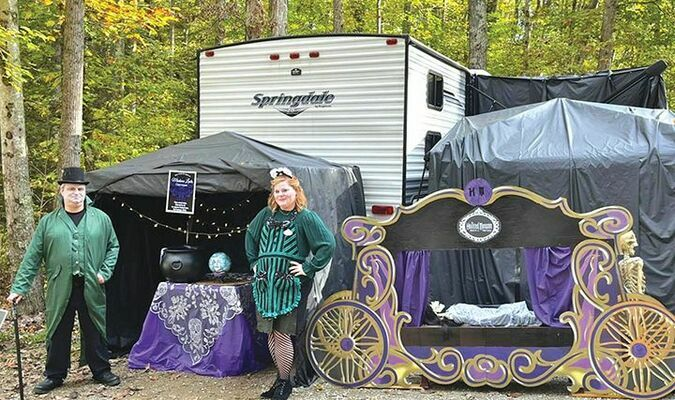 This haunted mansion display won first place in Breaks Interstate Park's recent campsite decorating contest. BREAKS INTERSTATE PARK PHOTO
