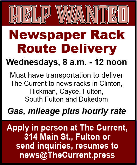 Help wanted - Newspaper rack route delivery