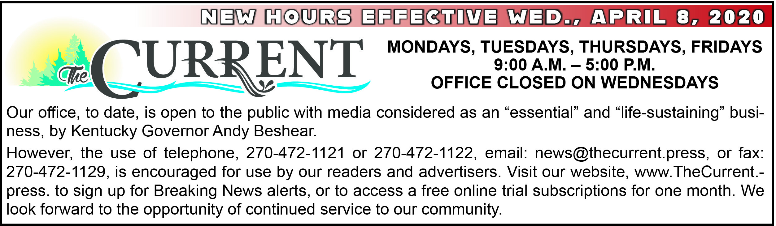 New Hours-House ad