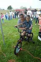 Jose Sanchez of Fulton, age 4 held the winning ticket drawn in the boys age 4-7 division of the hunt.
