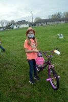 Kaylee Wireman, age 9, of Fulton, won the girls' prize for the age 7-10 division at the hunt, when her winning ticket was drawn.