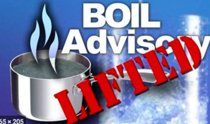 BOIL WATER ADVISORY LIFTED IN FULTON