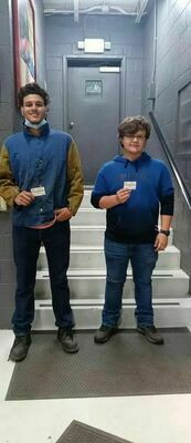 OSHA 10 TRAINED AND CERTIFIED - Fulton County Seniors Dylan Hammond, left, and Hunter Woods, right, completed their OSHA (Occupational Safety and Health Administration) 10 Training and are now OSHA 10 Certified April 21. The training was completed at the Four Rivers Career Academy in Hickman. (Photo submitted)