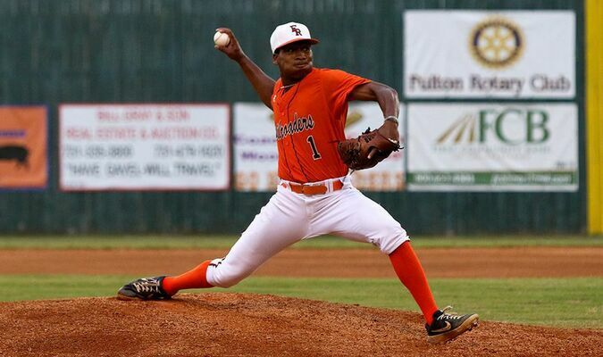 Fulton Railroader Keyshawn Mays took the loss on the mound June 5. (Photo by Jake Clapper)