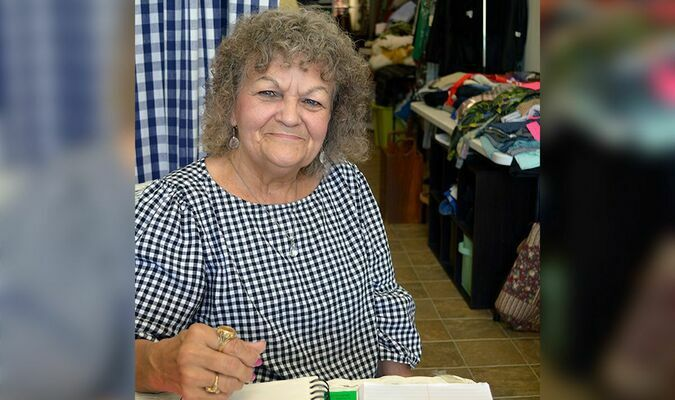 Patsy McCaig, owner and operator of Patsy's Alterations, is planning major changes for her business and her free time. (Photo by Benita Fuzzell)