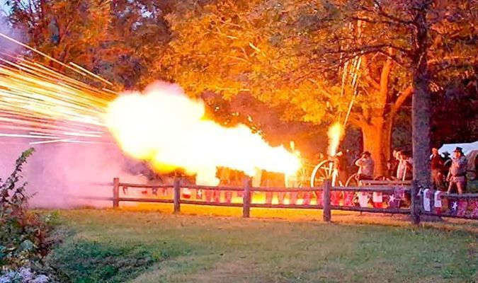 Cannon Volleys began at dusk on  Oct. 12 at Columbus-Belmont State Park.