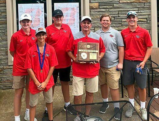 South Fulton High School's 2021 Boys' Golf Team, awarded District Championship