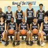 2018-19 PILOTS – The Fulton County Pilots 2018-19 basketball team members are, front row, left to right, DiAvian Bradley, Issac Madding, Jerome Warren, Caleb Kimble, Kahari Miller, Cameron Cole, Armani Yandal; back row, Head Coach Jamie Madding, Assistant Coach Corey Smith, Hayden Murphy, Dylan Hammond, Camden Aldridge, George Scott, Assistant Coach Jason Sipes, and Assistant Coach Craig Clay. (Photo by Charles Choate)