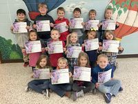 SFES PERFECT ATTENDANCE – These South Fulton Elementary students in First Grade achieved perfect attendance during the previous grading period. They are,front row, left to right,  Raylee Usher, Colin Parrish, Lilly Coble, Isaiah Dluzniewski; middle row, Kay Wallace, Mason McDonald, Brookelynn Patrick, Destiny McGuire, Rylan Graves; back row, Diego Rico, Caleb Parnell, Blake Lee, Tucker Forrest, Liam Wilbanks, and Zakory Peterson. (Photo submitted)