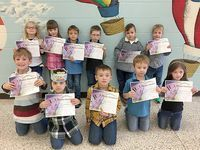 SFES PERFECT ATTENDANCE – These South Fulton Elementary students in Kindergarten achieved perfect attendance during the previous grading period. They are, front row, left to right, James Riddell, Silas Williams, Asher Lusk, Bentley Davis, Riley Semore;  back row, Falynn Choate, Rayne Sills, Nolan Rice, Eli Walker, Clark Rice, and Cason Johnston. (Photo submitted)