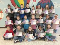 SFES PERFECT ATTENDANCE – These South Fulton Elementary students in Fifth Grade achieved perfect attendance during the previous grading period. They are, front row, left to right, Clark Rice, Ben Swift, Jadyn Rushin, Zoe Adams, Skylie Briggs; middle row, Gentry Wright, Braden Gore, Jayden Wilder, Carter Holzner, Emma Rhodes, Izzy Rea, Piper Lusk; back row, Jonathan Doss, Trey Jackson, Charles Michael Mulcahy, Jackson Doss, Hannah Roach, Lexi Lee, Hayley Stayton, and Gracie Graves (Photo submitted)