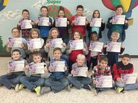 SFES PERFECT ATTENDANCE – These South Fulton Elementary students in Fourth  Grade achieved perfect attendance during the previous grading period. They are, front row, left to right, Ethan McDonald, Lucas Foust, Jaxon Wright, Logan Copeland, Jack Merritt, Kamren Cole; middle row, Emma Howes, Olivia Rogers, Marissa Nance, Shelby Stevens, Brooke Adams, Seth Dunn; back row, Randy Stowell, Tucker Hutchins, Audrey Redden, Gavin Dixon, Callie Tucker, and Sam Sutherland. (Photo submitted)