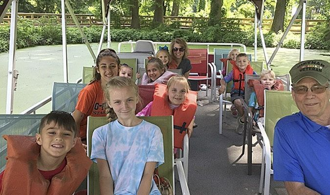 A highlight of SFES Summer Enrichment Program was a pontoon boat ride at Reelfoot Lake State Park. (Photo submitted)