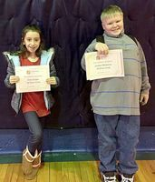 ACCELERATED READER 50 POINT CLUB – Students at Carr Elementary in Fulton were recently recognized for their honors in the AR Top Readers Club. Winners in the 50 points division of the Top AR Readers at Carr were Cara Capps and Jordan Whitman. (Photo submitted)