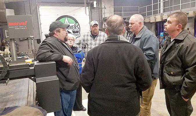 OBSERVATION VISITS – Officials from McCracken County Detention Center visited the Four Rivers Career Academy in Hickman Feb. 20 to learn about the welding program between the Career Academy and Fulton County Detention Center. (Photo submitted)