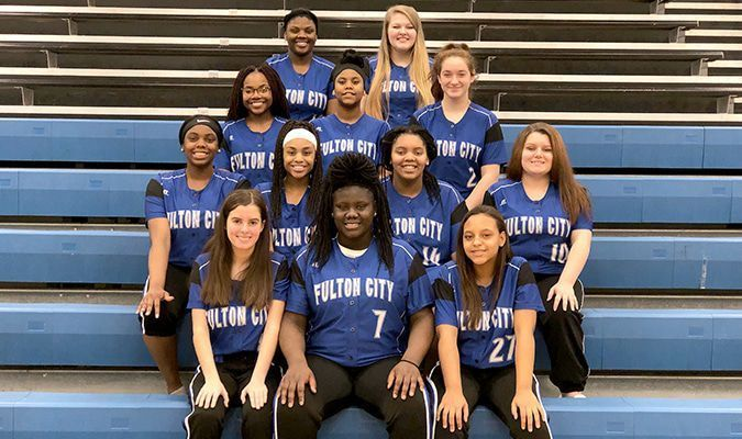 The 2019 Fulton High School Lady Bulldogs' softball team