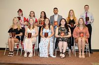 SFHS ACADEMIC TOP 10 SENIORS – Members of the South Fulton High School Class of 2019 were honored at the Academic Top 10 banquet held at Buck's Celebration Center. Included were Owain Ballance, Alexis Brown, Blake Johnson, Maegan Johnson, Amber Lemon, Erin McDaniel, Karlee Meadows, Valeria Rico-Jimenez, Carly Robertson, Carlie Rodgers, Anna Simmons and Valerie Whitten. (Photo by Benita Fuzzell)